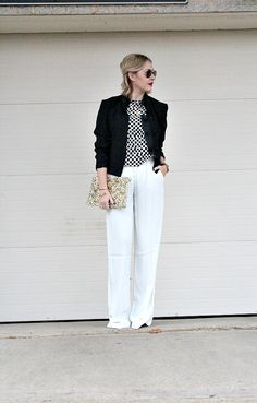 IM@districtsparkle. Love the white leg pants