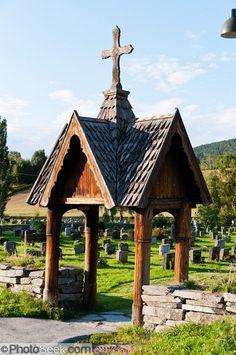Beautiful church stavkirker Hemsedal Norway