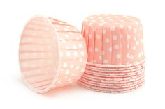 Candy Cups Soft Pink Polka Dot (24 qty). $4.99, via Etsy.