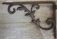 Large Provincial Shelf Brackets 9 7/8 inch, Solid Cast Iron, Volume Priced, B-77 by WePeddleMetal on Etsy