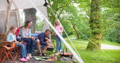 Family camping at Beddgelert