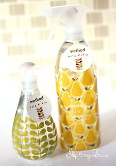 LOVE these new Orla Kiely for Method soap and cleaner dispensers at Target!