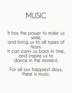 For all our happiest days, there is music.