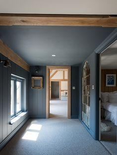 Contempory Bedroom, Border Oak, Oak Framed Buildings, Blue Bedroom, Master  Bedroom, New Living Room, Oak Frame House, Modern Country, Modern Rustic