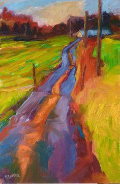 oil painting road trip Whidbey Island by Sara Raintree