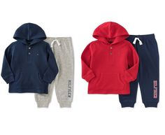 NWT Tommy Hilfiger Baby Boys 2 Pc. Thermal Hoodie & Pants Set  #TommyHilfiger #Casual