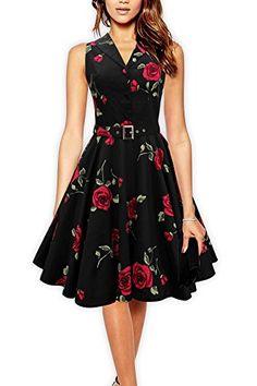Black Butterfly Robe Millésime Classique Des Années 1950 Rockabilly Rétro Pin-up Boutonné Swing Col De Soirée (50, Noir - Grandes Roses rouges) Black Butterfly Clothing http://www.amazon.fr/dp/B00NGVLXB0/ref=cm_sw_r_pi_dp_4CWGub0VD366Z