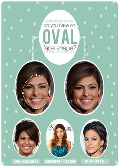 The contour and proportions of the oval face shape form the basis and ideals for evaluating and modifying all other facial types. All Things Beauty, Beauty Make Up, Hair Beauty, Oval Face Shapes, Oval Faces, Oval Shape, Perfect Face Shape, Oval Face Hairstyles, Short Hairstyles