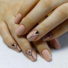 Check it out. Nude Nails, Nail Manicure, Gel Nails, Cute Acrylic Nails, Acrylic Nail Designs, Henna Nails, Tribal Nails, Minimalist Nails, Hair Skin Nails