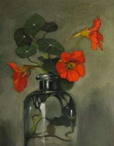 """Daily Paintworks - Original Fine Art © Diane Hoeptner - Daily Paintworks – Original Fine Art © Diane Hoeptner """"Crimson Trio Jeremy Lipking is good inspiration"""" – Original Fine Art for Sale – © Diane Hoeptner Artist Gallery, Fine Art Gallery, Paintings I Love, Beautiful Paintings, Art Floral, Oil Painting Flowers, Painting & Drawing, Grand Art, Still Life Art"""