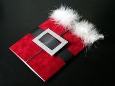 santa card...with tutorial. I *love* this card! Too freaking cute!