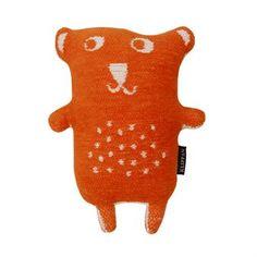 Little Bear Kuscheltier - orange - Klippan Yllefabrik