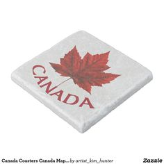 Shop Canada Coasters Canada Maple Leaf Souvenir Coaster created by artist_kim_hunter. Canadian Gifts, Kim Hunter, Canada Maple Leaf, Gifts For Hunters, Stone Coasters, Custom Coasters, Canadian Artists, Online Gifts, Hostess Gifts