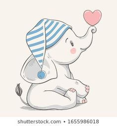 Portfolio di foto e immagini stock di Helga Gavrilova Baby Elephant Drawing, Baby Animal Drawings, Elephant Art, Cute Drawings, Elephant Applique, Cute Emoji Wallpaper, Cute Cartoon Wallpapers, Disney Wallpaper, Wallpaper Backgrounds