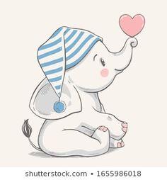 Portfolio di foto e immagini stock di Helga Gavrilova Baby Elephant Drawing, Baby Animal Drawings, Cute Baby Elephant, Elephant Art, Elephant Nursery, Cute Baby Drawings, Elephant Applique, Giraffe Art, Baby Illustration