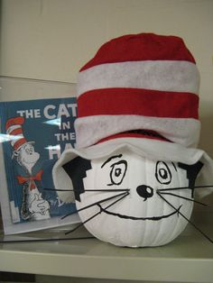 The Cat in the Hat - Book Character Pumpkin  (Pumpkin Painting 2010)