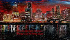 Portland City Lights #1 Holiday Crad by PortlandFineArt on Etsy