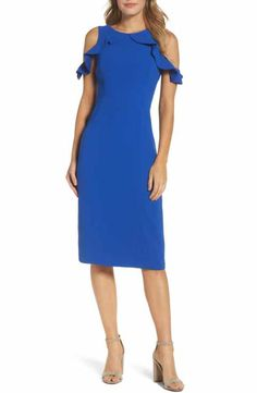 c0f25200005c61 Maggy London Cold Shoulder Sheath Dress (Regular   Petite) Shoulder Sleeve