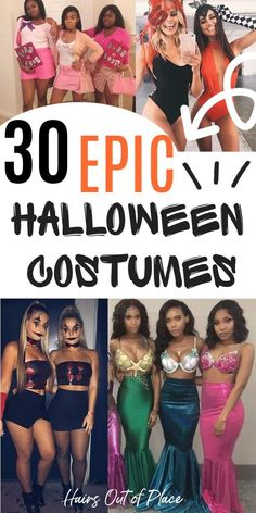 30 Halloween costumes for college women and girls that are easy DIY halloween costumes to make.