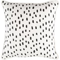 Hashtag Home Glenwood Dalmatian Dot Cotton Throw Pillow Cover Color: White/ Black, Fill Material: Polyester/Polyfill, Insert Included: Yes Cricut, Color Beige, Color Black, Decorative Throws, Decorative Accents, White Decorative Pillows, Modern Pillows, Decorative Accessories, Cushion Pads