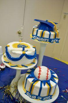 two layer graduation cake - Google Search