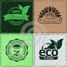 Illustration about Set of vintage retro grunge bio and eco organic labels. Layered vector file for easy edition and coloring. Illustration of damaged, element, badge - 39731252 Vector File, Ecology, Retro Vintage, Grunge, Organic, Illustration, Design, Illustrations