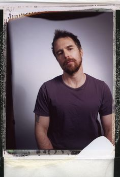 Sam Rockwell polaroid for Variety.