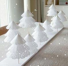 Décoration de Noël DIY en napperon