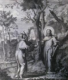 426 Life of Christ Phillip Medhurst Collection 4853 Temptation Luke 4.1-4 Scheits