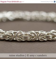 byzantine sterling silver - a nice change from Tiffany's