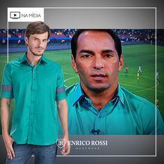 As peças da Enrico Rossi são democráticas, por isso os caras que gostam de esporte também usam!   Na foto, o ex-jogador e atual comentarista esportivo, Edmundo, aparece usando uma bela camisa colorida, que transmite um ar descontraído para o espectador.  #esporte #namídia #enricorossi #lookdefamoso