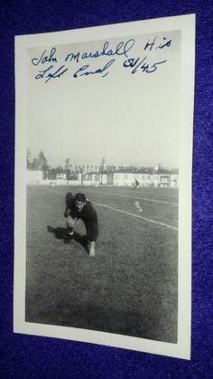 Vintage Old 1945 Photo Teen Football Team Player John Marshall High School L.A.