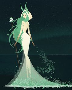 Artist Transforms Eevee Evolutions Into Goddesses