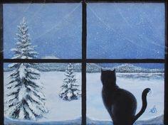"Daily Paintworks - ""So snowy outside"" - Original Fine Art for Sale - © Anna Starkova"