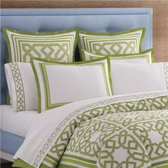 Jonathan Adler Bedding Parish Green Duvet Cover or Set @LaylaGrayce #laylagrayce #bedding #jonathanadler