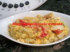Revuelto patatas con pimento rojo thermomix