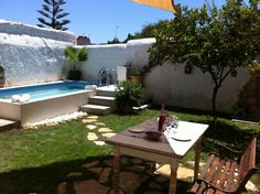 Authentic village house with pool Small Swimming Pools, Small Backyard Pools, Small Pools, Above Ground Pool, In Ground Pools, Small Garden Shelter, Patio Chico, Oberirdischer Pool, Pool Fun