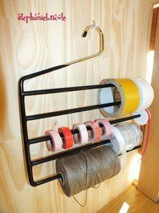 Organize Tape or Ribbon Garage Organization Tips, Diy Organisation, Diy Garage Storage, Shed Storage, Tool Storage, Craft Storage, Art Studio Storage, Ideas Para Organizar, Garage Tools