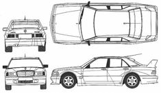 mercedes 190e vehicle template - Google Search Mercedes 190, How To Plan, Cars, Design Templates, Vehicles, Automobile, Google Search, Drawings, Blue
