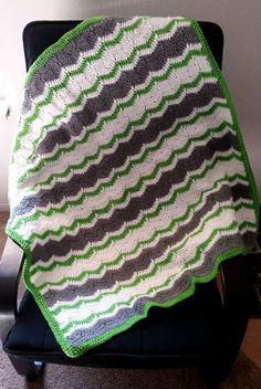 Grey & Green Ripple Stitch-Crochet Baby by HollipopGoesBabies