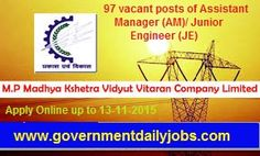 MPMKVVCL RECRUITMENT 2015 JUNIOR ENGINEER ASST MANAGER VACANCIES ~ Government Daily Jobs
