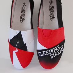 Sleeping with Sirens DIY Sneakers by Dream a Little Bigger