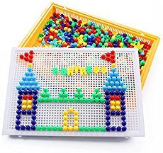 Vidatoy Special Edition 324 Pcs Pegboard Mushroom Nails Jigsaw Peg Puzzle Game With Numbers and Letters Nails (Random Colors) Drawing Activities, Art Therapy Activities, Motor Activities, Preschool Activities, Therapy Ideas, Puzzles, Wet On Wet Painting, Clay Crafts For Kids, Halloween Beads
