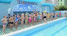 수영교육에 힘을 넣고있는 중구역 동안소학교 Tongan Primary School in Pyongyang