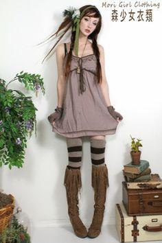 Mauve spring dress. FREE SHIP