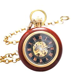 Hand Wind Mechanical Pocket Watch Fashion Men Skeleton Watches Steampunk Vintage Pocket Watch With Chain-in Pocket & Fob Watches from Watches on Aliexpress.com | Alibaba Group