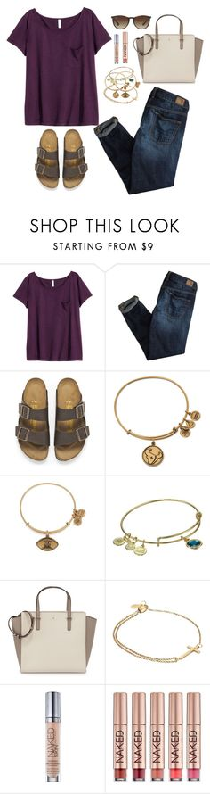 """""""I never know what to name sets"""" by valerienwashington ❤ liked on Polyvore featuring H&M, American Eagle Outfitters, Birkenstock, Alex and Ani, Kate Spade, Urban Decay and Ray-Ban"""