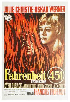 Oskar Werner, Julie Christie, Cyril Cusack. Director: François Truffaut. IMDB: 7.2 _________________________ https://en.wikipedia.org/wiki/Fahrenheit_451_%28film%29