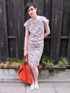 Pattern Runways summer dress. Check it out on Burdastyle too