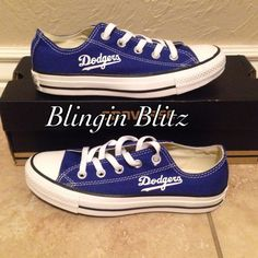 8611f3f4f73b Mens or womens LA Dodgers Converse Shoes